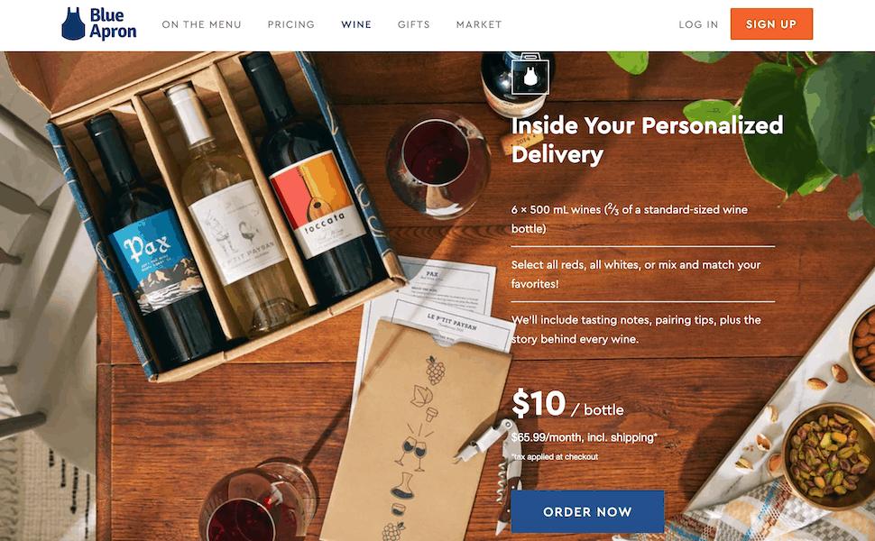 Blue Apron's unique wine-pairing service