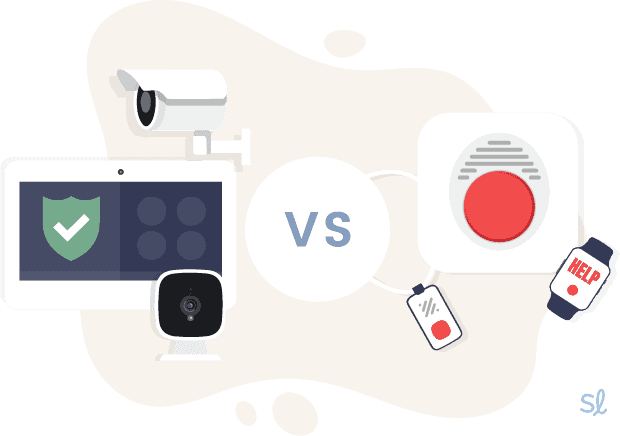 Home Security System vs Medical Alert Device