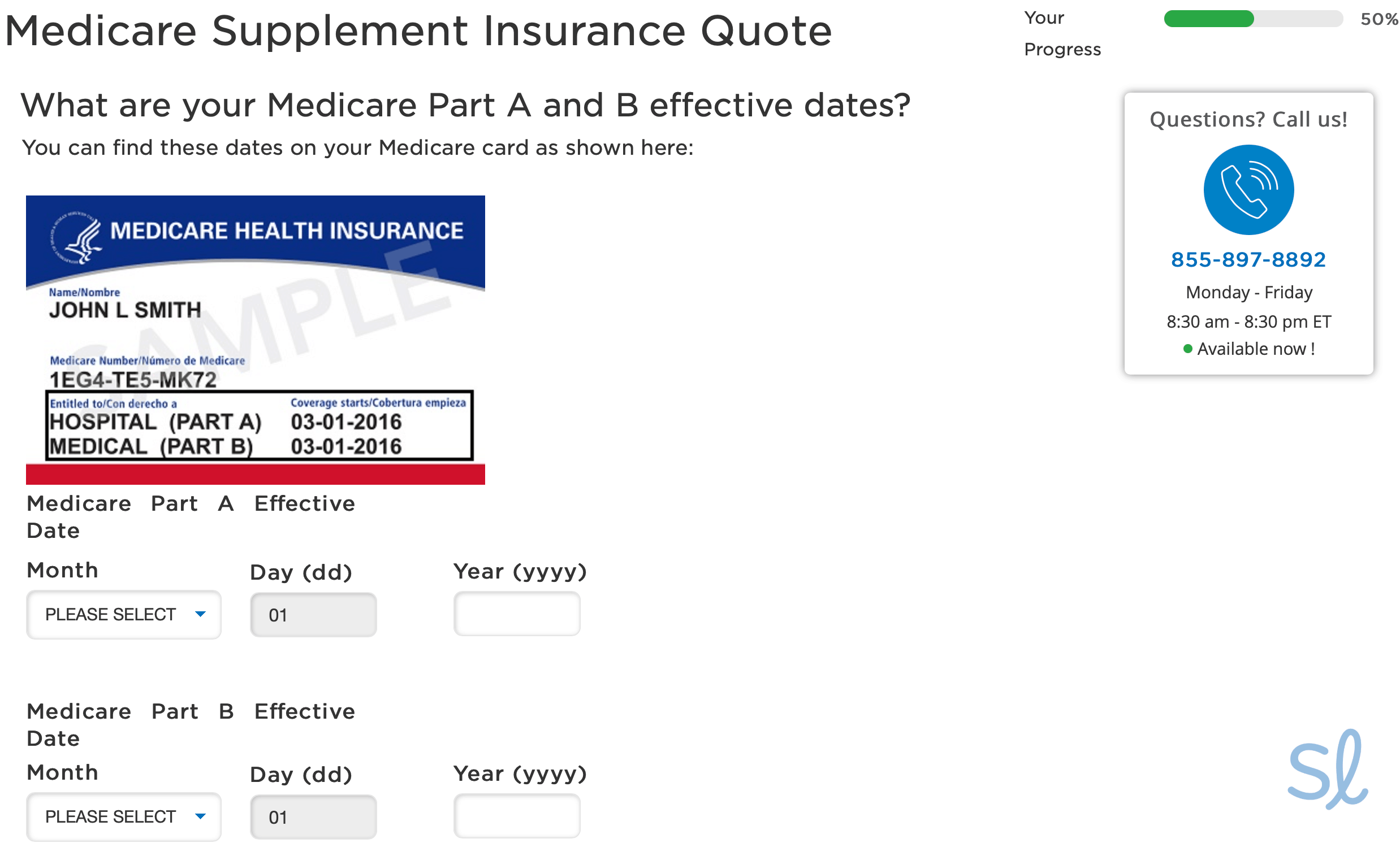 Input your Medicare information