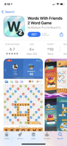 Words With Friends 2 app
