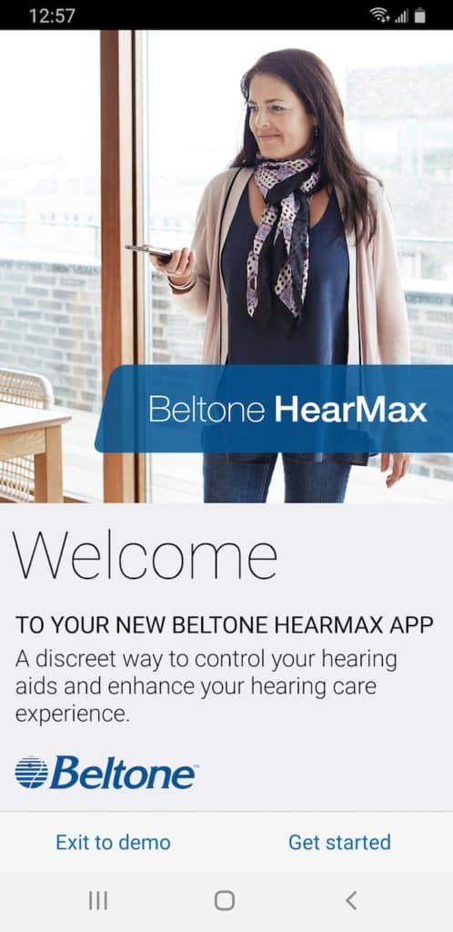 HearMax Welcome Screen