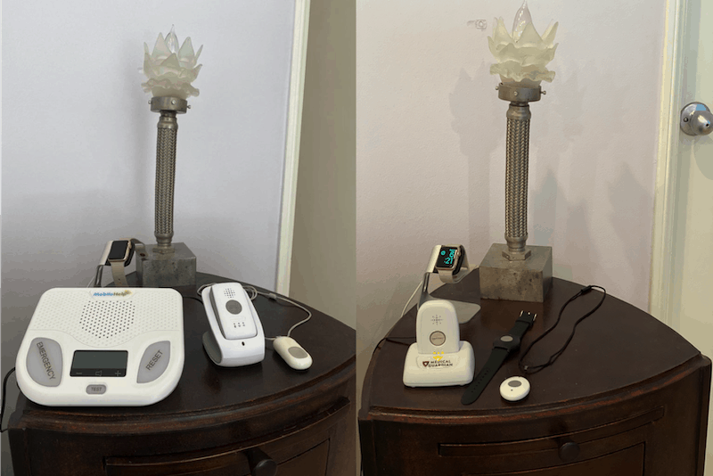 MobileHelp (Left) and Mobile 2.0 from Medical Guardian (Right)