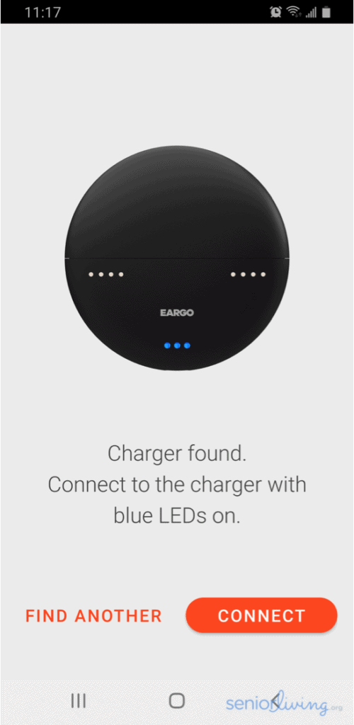 Eargo App Charger Connection