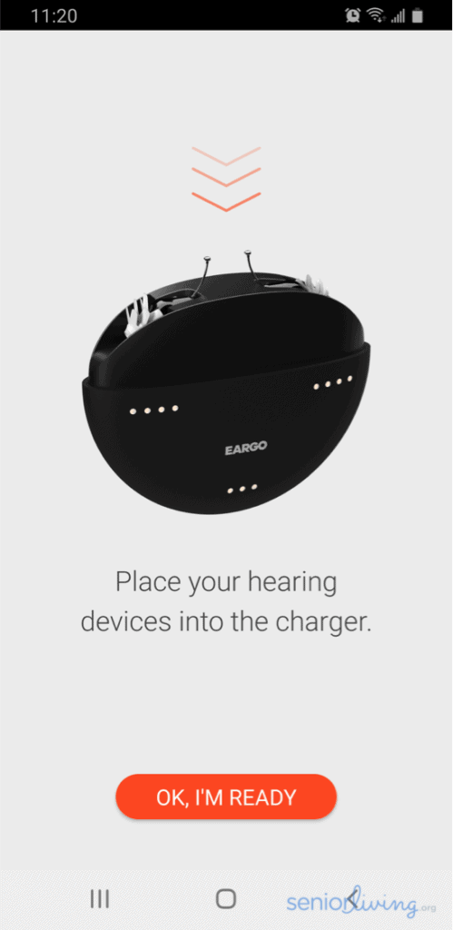 Eargo App Notification to Charge