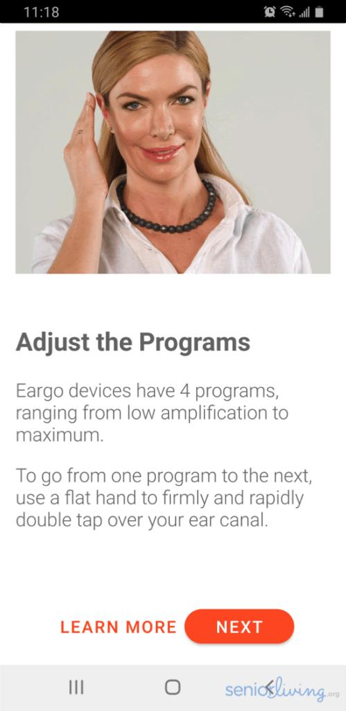 Eargo App Programs