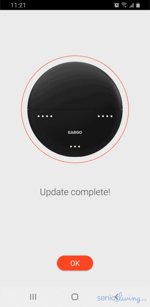Eargo App Update Complete
