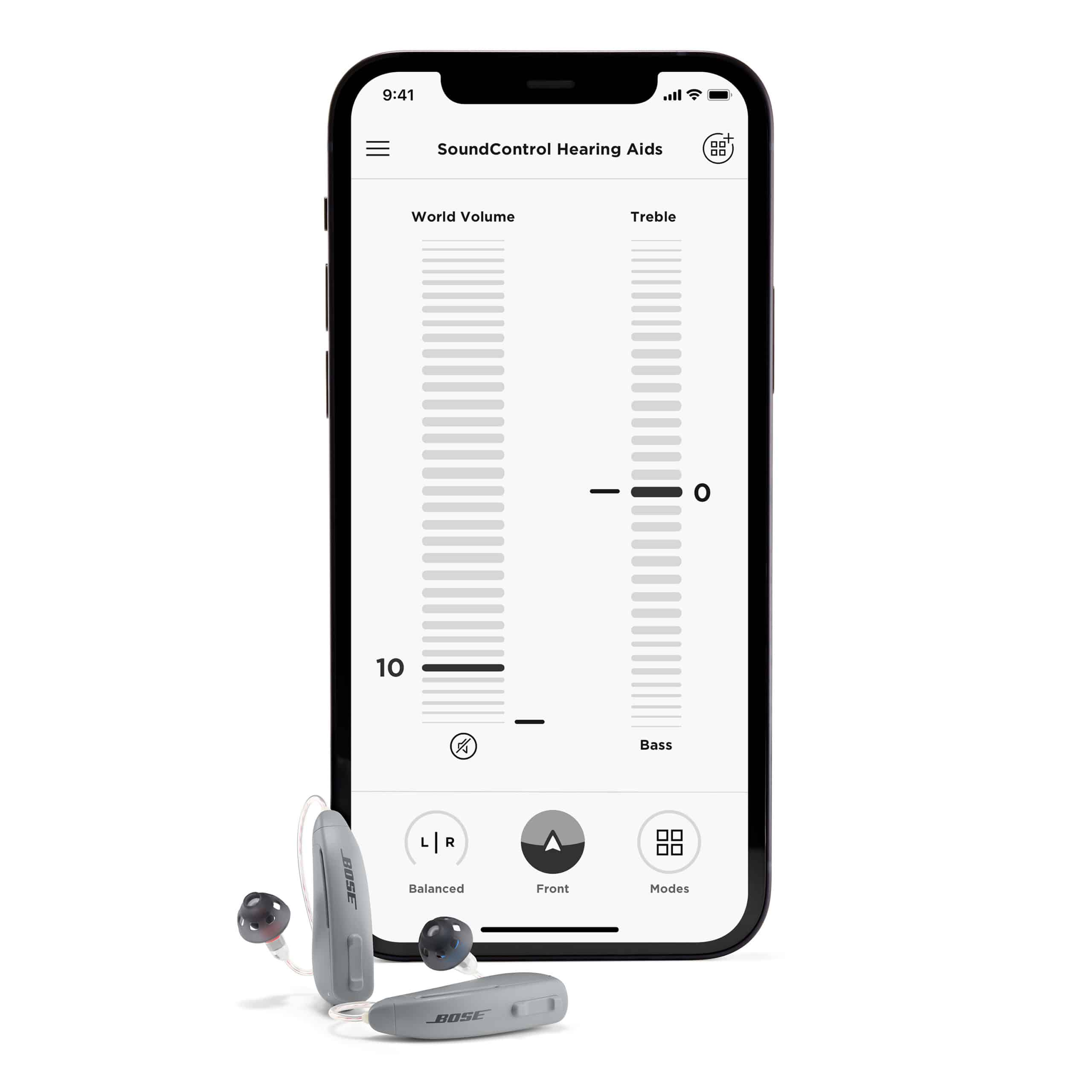 Bose Hear App controls.