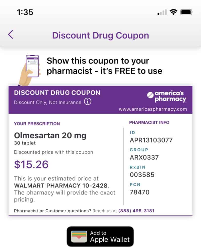 An America's Pharmacy discount coupon