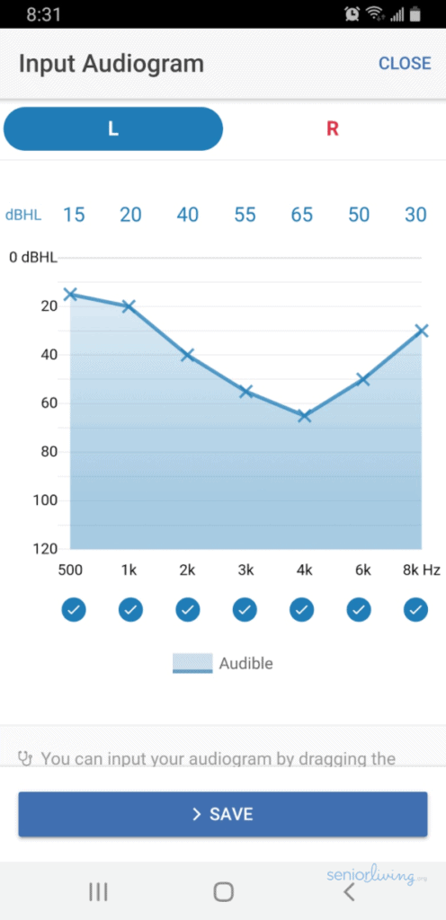 Otofonix App - Input Audiogram