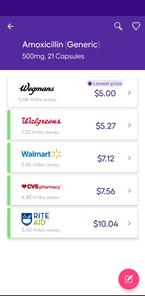 Comparing prescription prices in the SingleCare app
