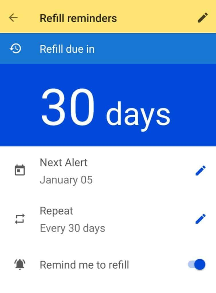 The GoodRx Refill Reminder is one of our favorite app features
