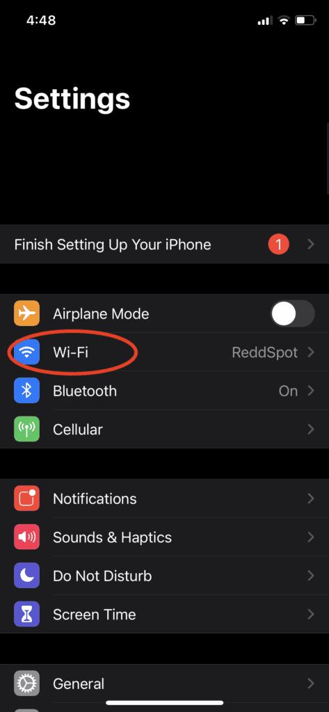 "Tap ""Wi-Fi"""
