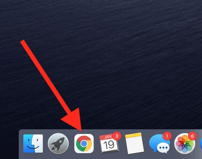 The Google Chrome icon