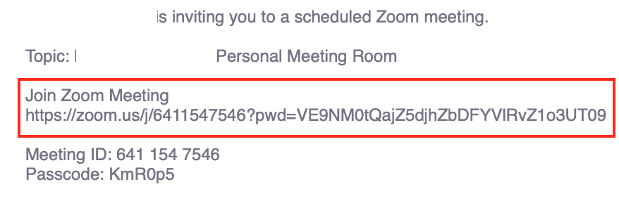 Zoom - Click the shared link to join your meeting