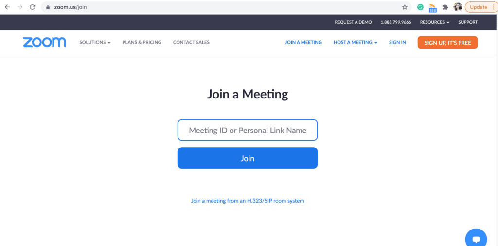 Zoom - Join the meeting from your Desktop