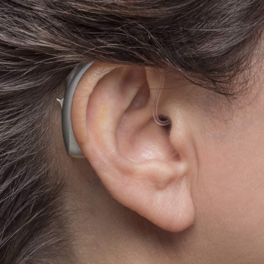 Phonak - BTE hearing aids. Photo credit - Phonak