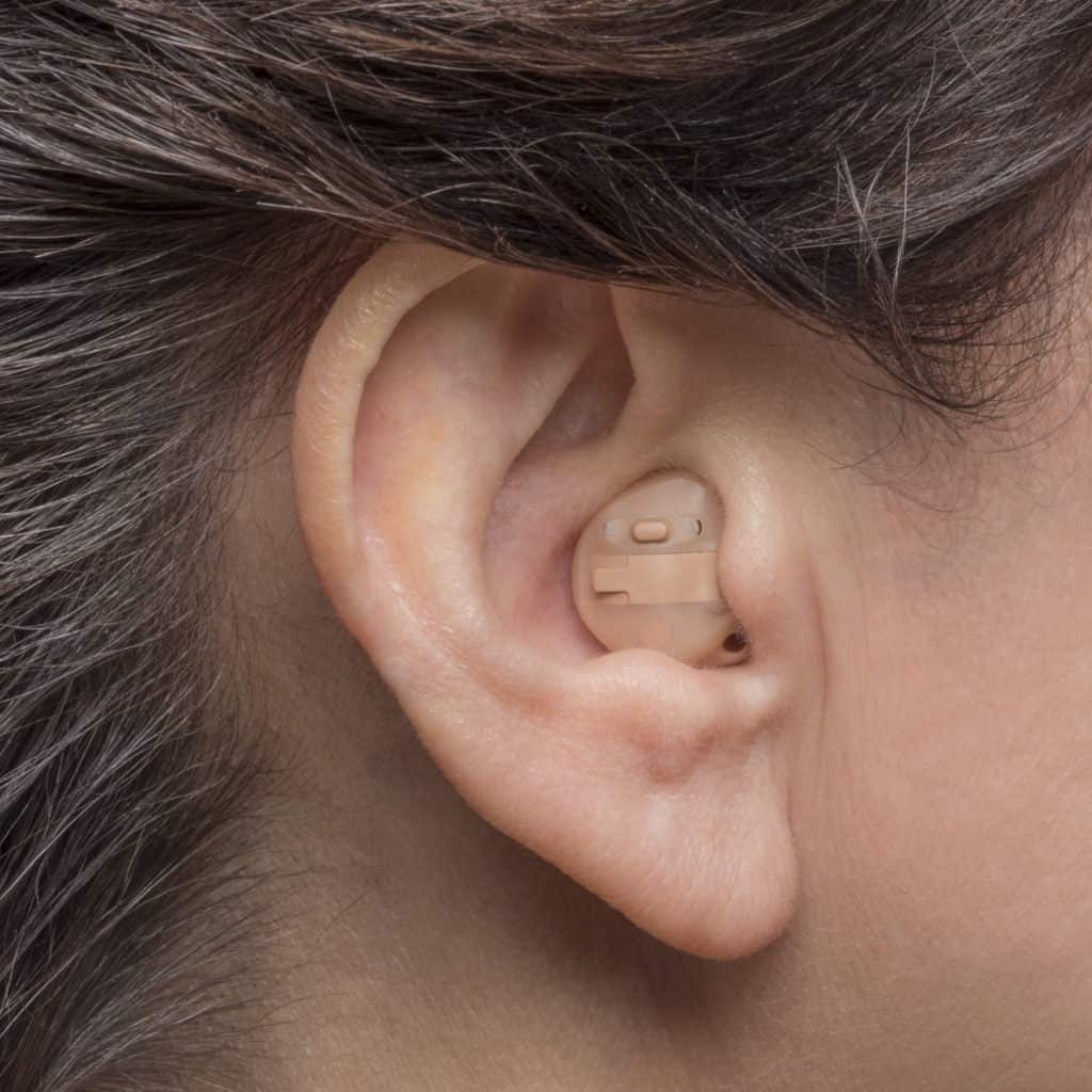 Phonak - ITE hearing aids. Photo credit - Phonak