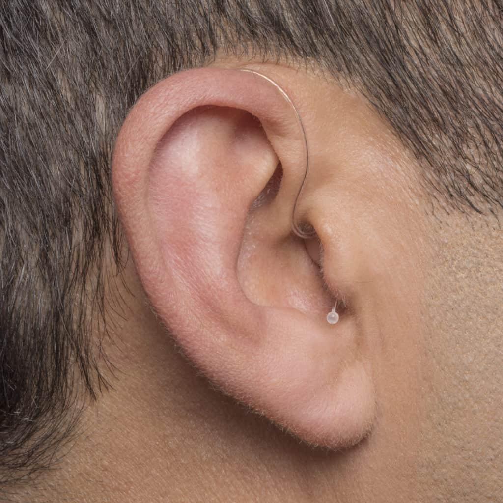 Phonak - RIC hearing aids. Photo credit - Phonak