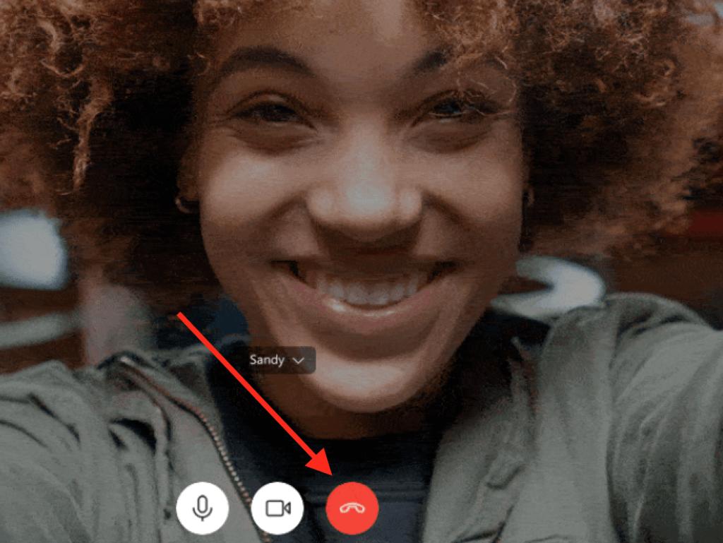 Skype - End Call