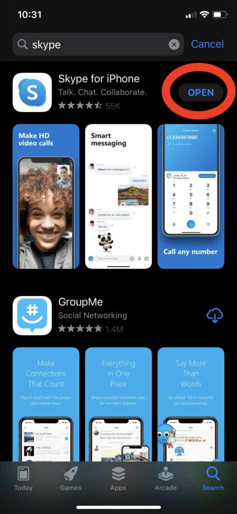 Skype - Tap