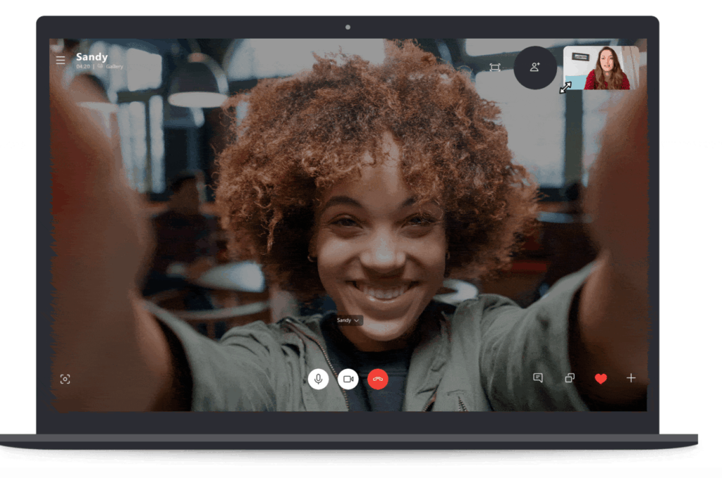 Skype - Your video call will look like this
