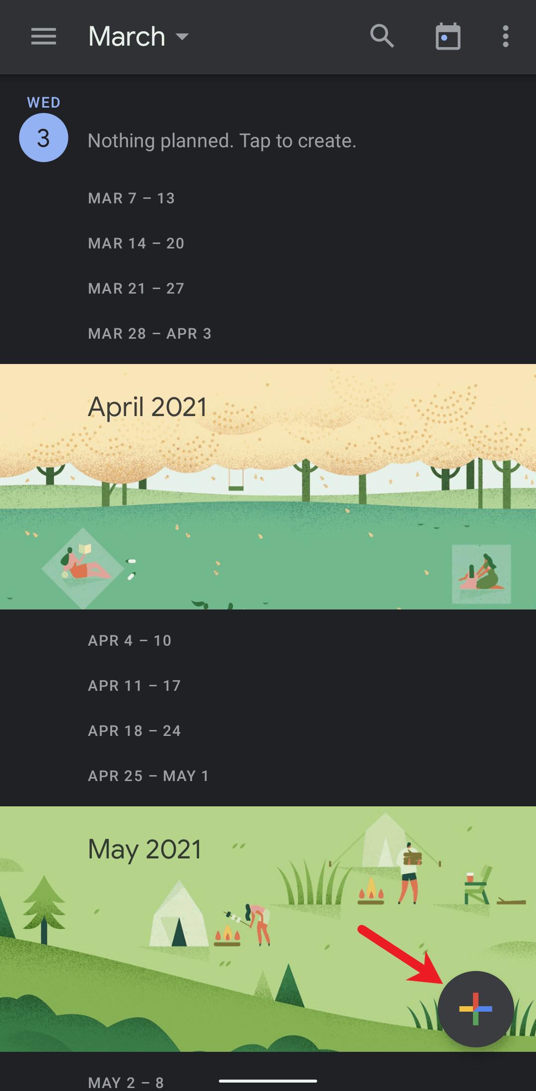 Create an event on your Google Calendar