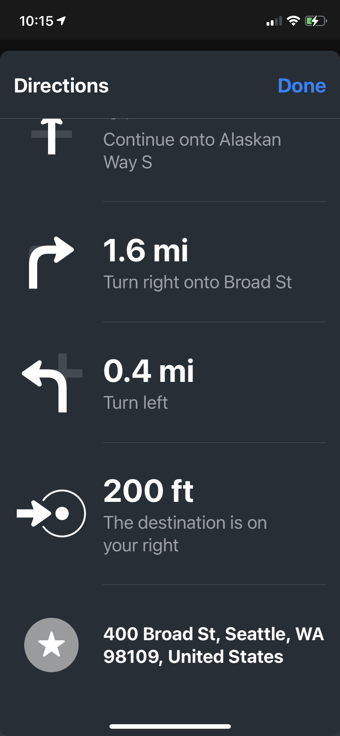 Get a list-view of your directions - Apple Maps