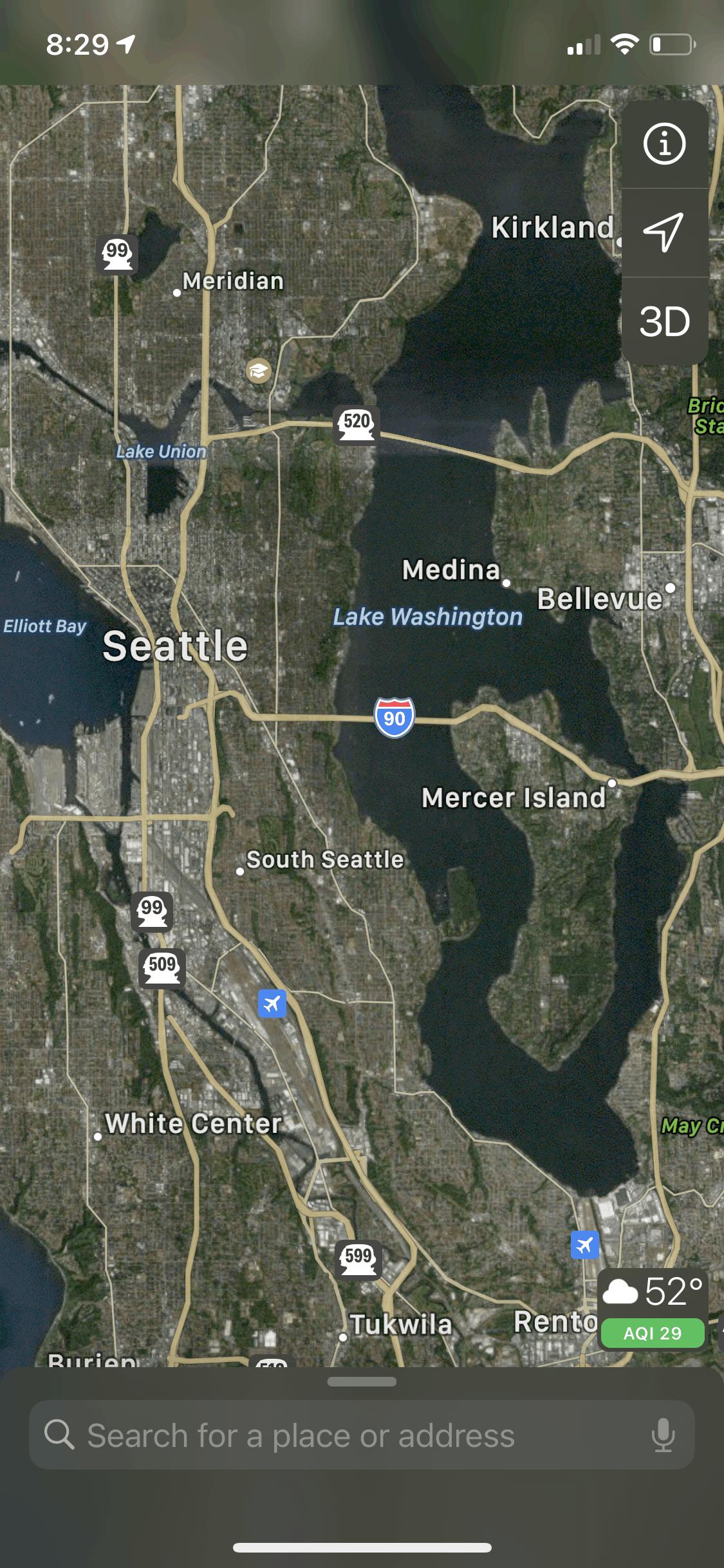 Satellite view - Apple Maps