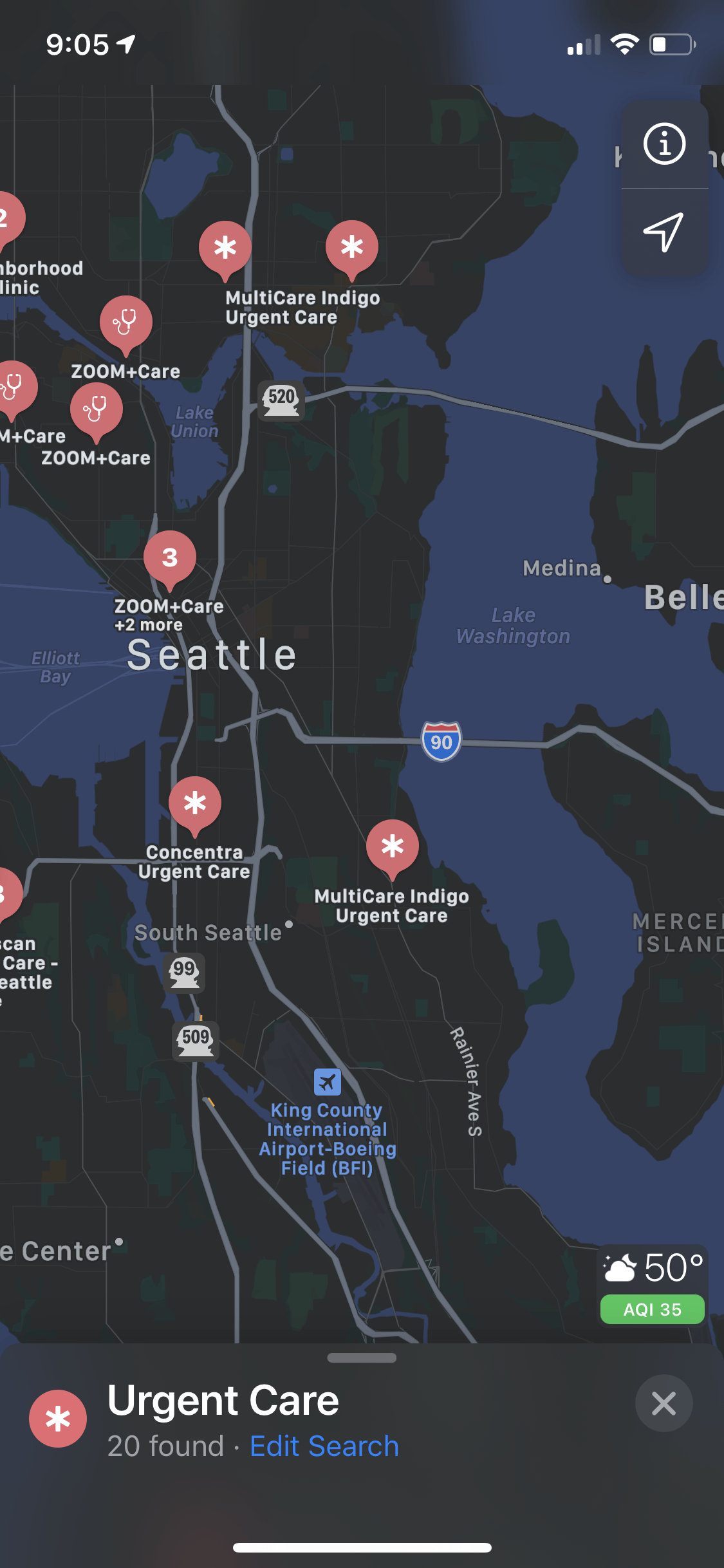 Searching for a specific category - Apple Maps