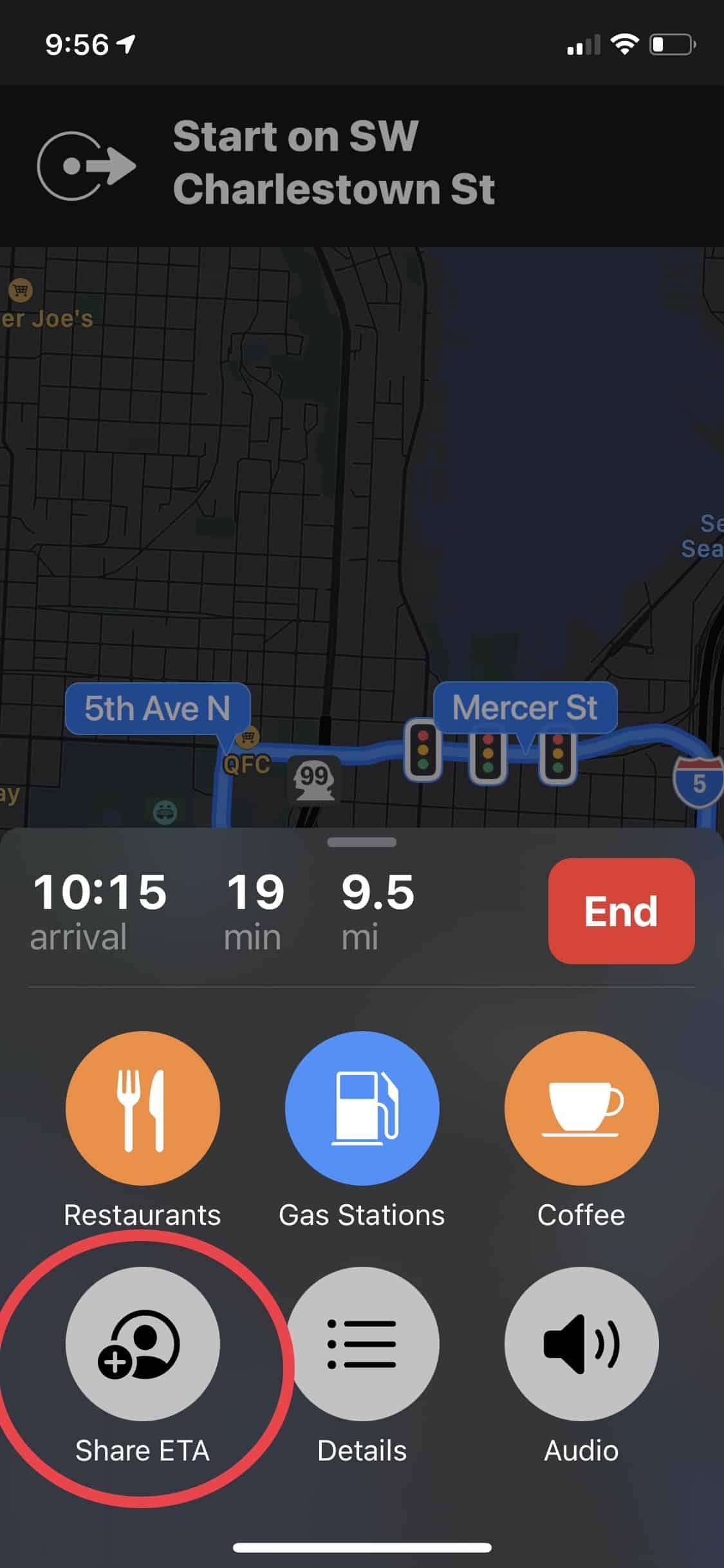 Share your ETA - Apple Maps
