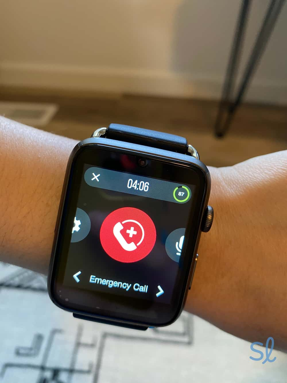 WellBe Smartwatch emergency button
