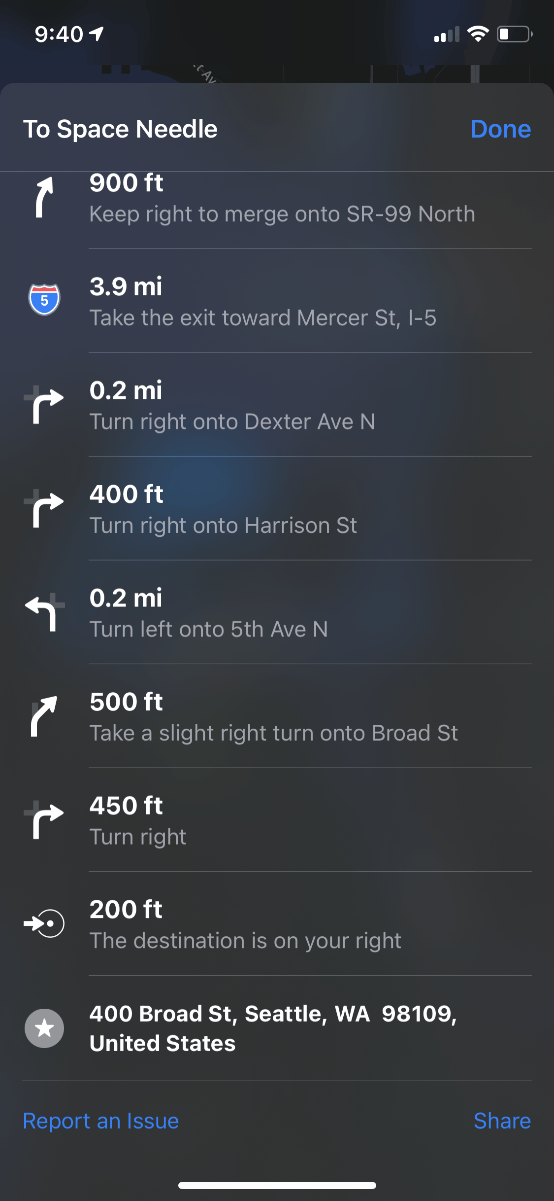 View turn-by-turn directions for a specific route - Apple Maps