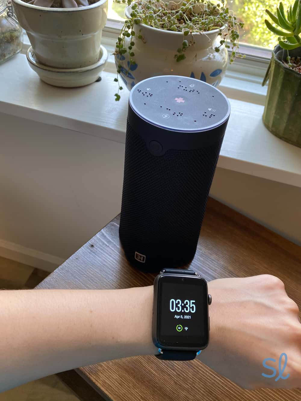 WellBe Medical Alert PLUS includes the Smart Speaker and Smartwatch