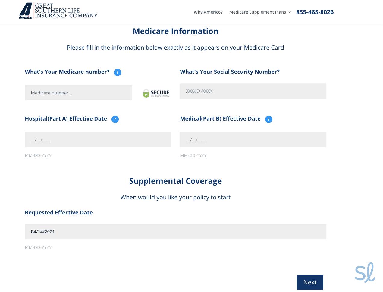 Enter your Medicare information