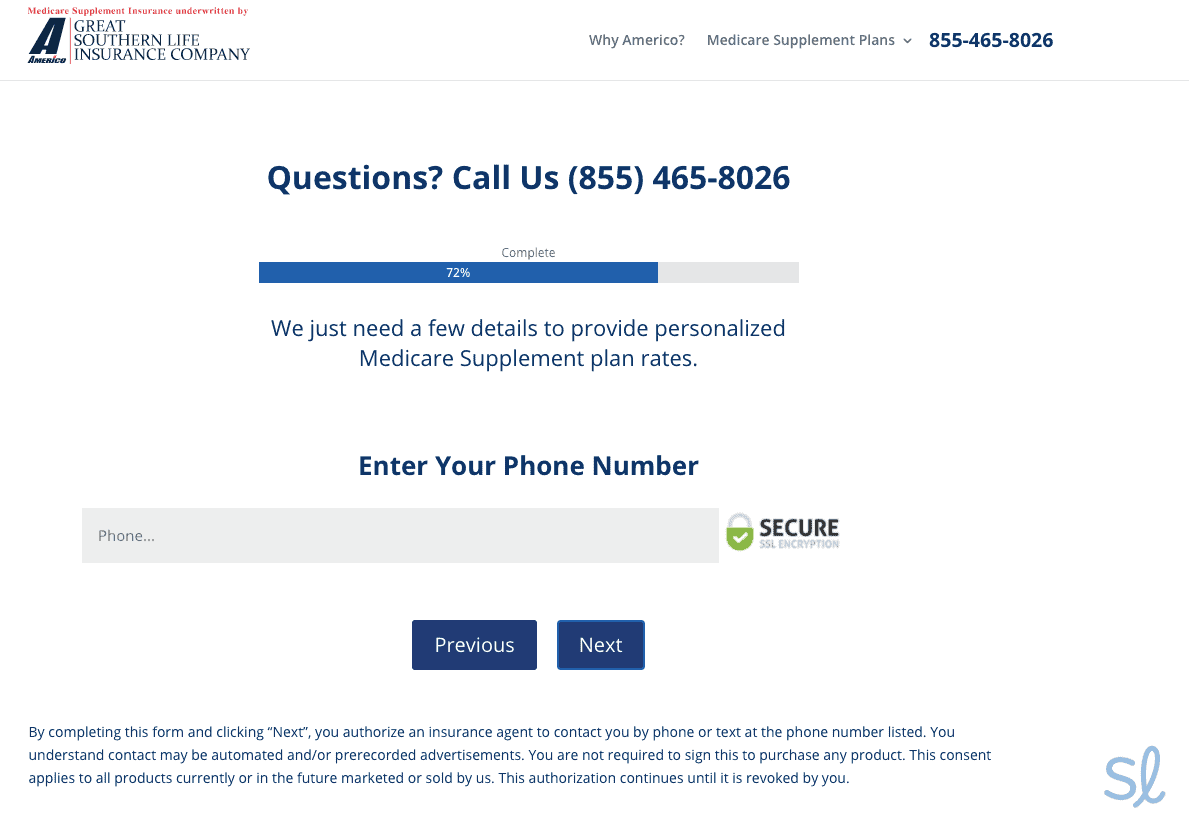 Provide your phone number - Americo
