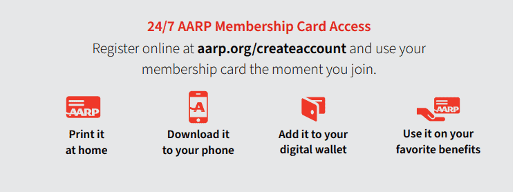 There are several ways to access your AARP membership card. Source: AARP